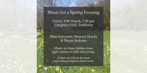 Music for a Spring Evening @ Creighton Memorial Hall