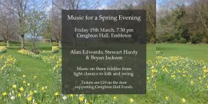 Music for a Spring Evening @ Creighton Memorial Hall